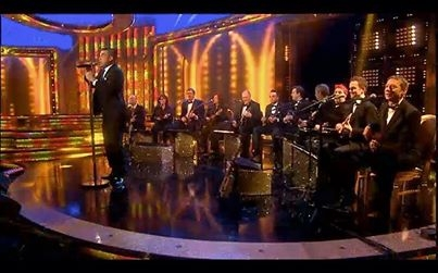 Ukulele Orchestra joined by Ant and Dec and Robbie Williams