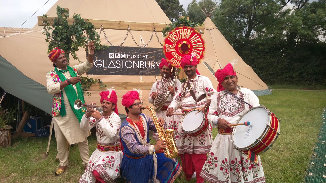 Cerys Matthews, live from Glastonbury with Rajasthan Heritage Brass Band